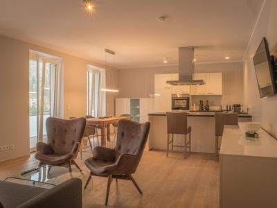Photo for Exclusive apartment for 2 people, large balcony, 2 TV, sofa bed