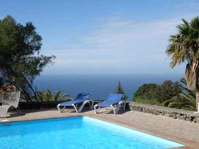 Photo for absolutely quiet location, solar heated pool, Wi-Fi, 200 meters above sea level, great panorama view