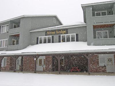 Outside the front of Alpine Lodge - Outside the front of Alpine Lodge.  Alpine Lodge 118 is more easily accessed by the rear entry.