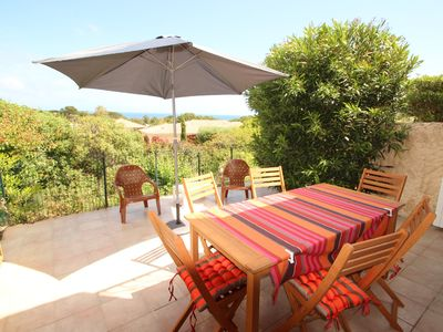 Photo for Apartment 7 people renovated between Calvi and Ile Rousse 800m from the beach