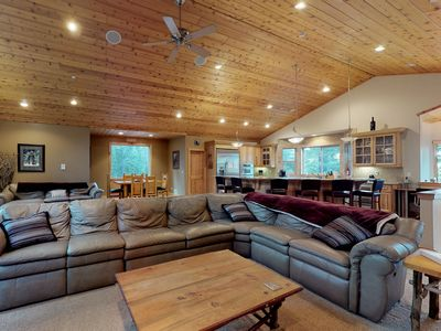 Photo for NEW LISTING! Tranquil retreat with game room, theater room, and private hot tub!