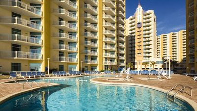 Several beautiful indoor and outdoor pools and hot tubs.
