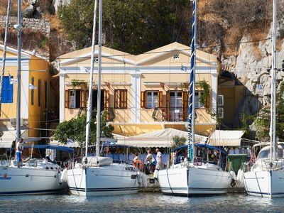 Photo for Symi Port View Apartment Is Situated Right On The Port Of Symi With A Balcony.