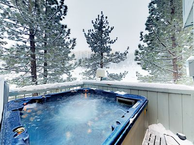 Photo for Ultra-Convenient Locale w/ Private Hot Tub -- Walk to Stagecoach Lift