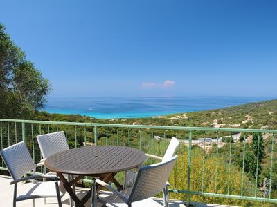 """Photo for Gite """"les lauriers"""" panoramic sea view, beach 1.5 km prop. closed family"""