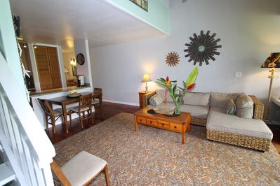 Living room opens to screened in lanai.