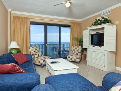 Photo for Beach-Front Condo overlooking The Gulf, Fully Equipped Kitchen, Private Balcony, Easy Beach Access!