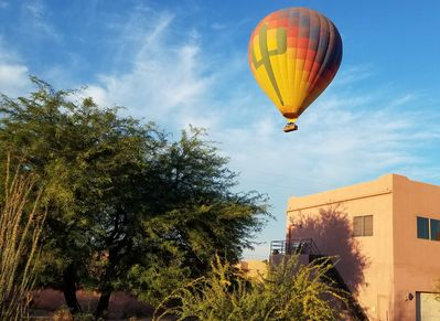 Hot air balloons routinely launch near our location.  This could be you!