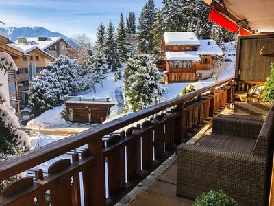 Photo for 100m2 fabulous apartment in central Verbier, by the foot of the Moulins slope