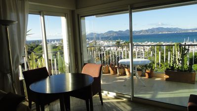 Photo for Cannes on the Croisette - facing the sea - 3 rooms - wonderful view
