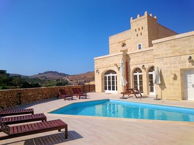 Photo for Large modern farmhouse with private pool & BBQ, stunning views, perfect location