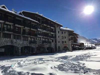 Photo for 4 bedroom duplex of 60 m2, on skis with panoramic views