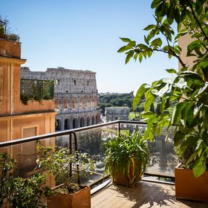 Photo for 🏆Perfect Majestic Terrace, Superb Views of Coliseum Classy Eternity WiFi AC