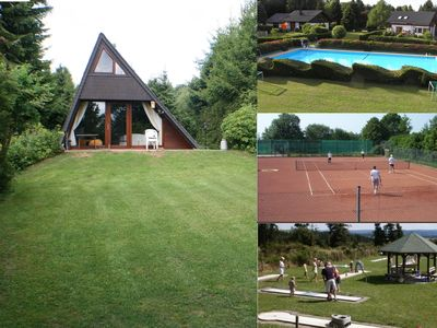 Photo for Holiday house Eifel near Freilinger See with outdoor pool Tennis courts Minigolf