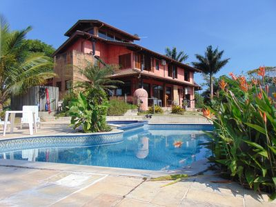 Photo for Ubatuba Tenório Beach. Sea view. Excellent Family Res with Pool