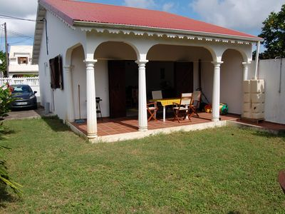 Photo for Detached house near the beautiful Souffleur beach in Port Louis