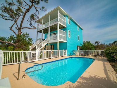 Photo for Fall Specials available! Private Pool, Pet Friendly, Short walk to Beach, Gulf views! Beautifully decorated Interior that sleeps 8!