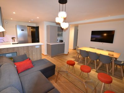Photo for Belle Plagne PREMIUM: luxury apartment for 8 people, SKI IN OUT LUXURY