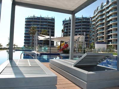 Photo for Frontline apartments with Unbeatable Sea Views, Gym, Heated Pool & Wellness