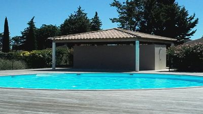 Photo for Beautiful holiday rental with pool in AIGUES MORTES