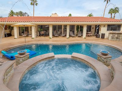 Photo for Desert Paradise Vacations - Steps to El Paseo W/ Pool, Spa, Fire Pit, Bbq