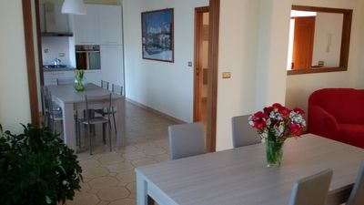 Photo for Large apartment in villa with outdoor spaces and parking spaces