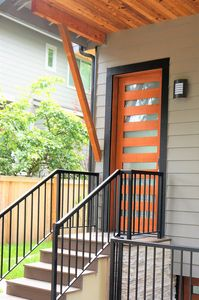 Private entrance with keyless entry