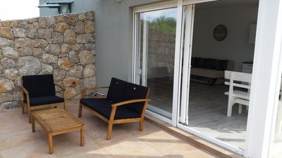 Photo for One bedroom apartment with terrace Novalja, Pag (A-17361-b)
