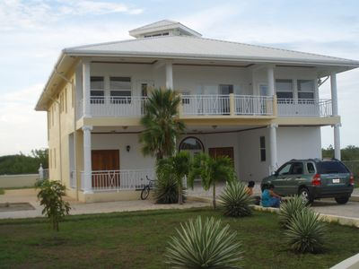Photo for Beautiful, Modernly furnished 5 bedroom 4 bathroom lakefront vacation home - BZE