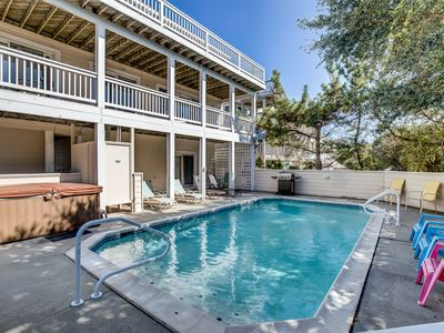 Photo for Oyster Catcher | 400 ft from the Beach | Private Pool, Hot Tub