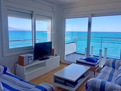 Photo for Beautiful apartment with panoramic sea views and communal pool