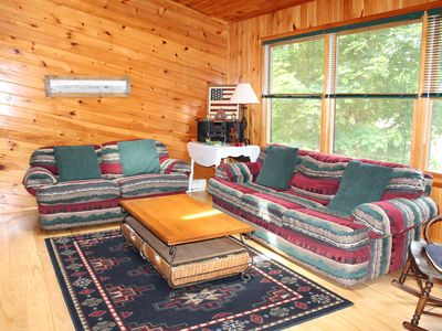 Our Living Room Has Comfortable Furniture With A Northwood Decor.