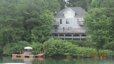 Photo for A quiet lakefront hideaway, great for families & friends. Best view on the lake!