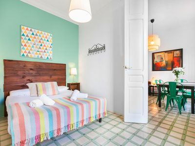 Photo for Spacious 3-Bedroom Apartment in Barcelona