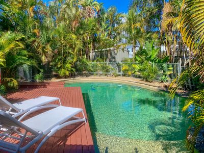 Take a dip or soak up some rays. This house has a stunning private swimming pool