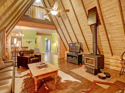 Photo for FREE SkyCard Activities - Classic A-Frame Cabin, Forest Views, Secluded Getaway - Spruce Creek Lodge