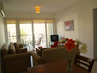 Photo for Yiasemi Apartment DPS101-Two Bed Cozy Apartment-FREE WiFi-Pool-Playground