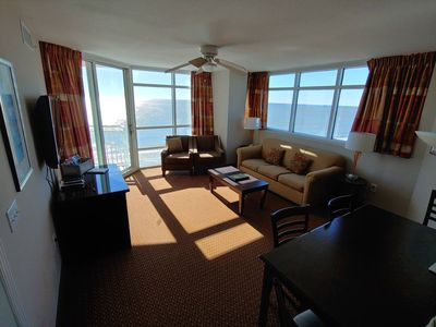 Photo for STUNNING OceanFront #1002, 2 Bdrms! Balcony! Pools! Corner Unit! Fitness Rooms!
