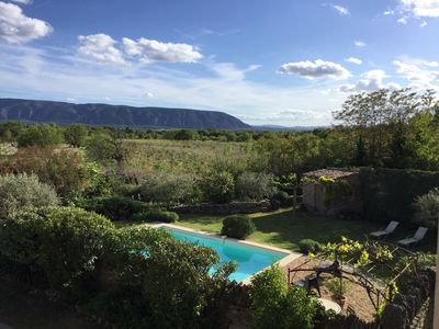 Photo for Quiet house, private pool facing the Luberon on GORDES