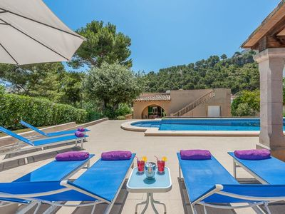Photo for 3 bedroom Villa, sleeps 6 in Sant Vicent de sa Cala with Pool, Air Con and WiFi