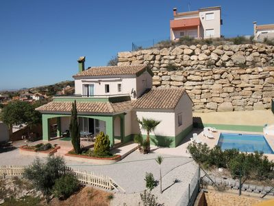 Photo for Nice apartment for 6 people with WIFI, private pool and TV