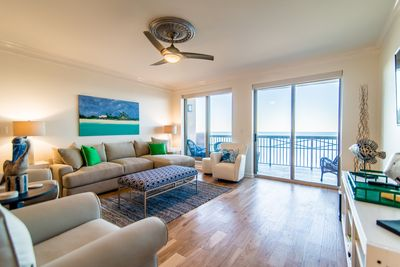 Relax in the oceanfront LR w/Balcony Access