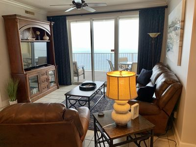 Photo for Luxurious Ocean Front Condo 8/22-9/4 10% off High end furniture Huge Balcony!