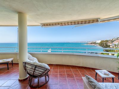 Photo for Costa Quebrada - Beachfront 3BR Apartment with Huge Terrace & Sea Views