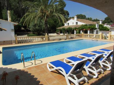 """Photo for Beautiful Finca """"Casa Palomas"""" with huge pool in an oasis of peace and quiet."""