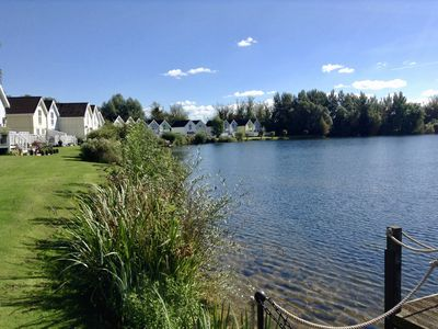 Photo for Welcome to our lakeside holiday home in the heart of the Cotswold Water Parks