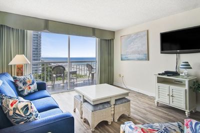 Enjoy the ocean view from the living room.