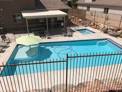 Photo for Private POOL & SPA, Luxurious Home 3 Bedroom, play gym, near Zion and St. George