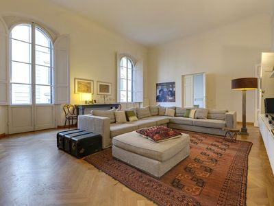 Photo for The Salone. Elegant bright and spacious apartment in the center of Florence
