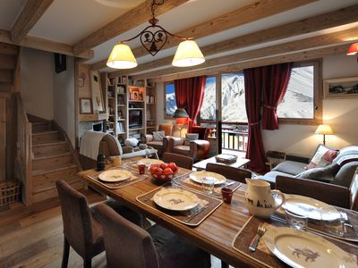 Photo for Charming duplex in chalet on the slopes of the 3 valleys close to the ESF